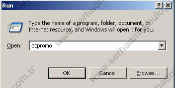 Windows Server 2003 Active Directory Kurulumu