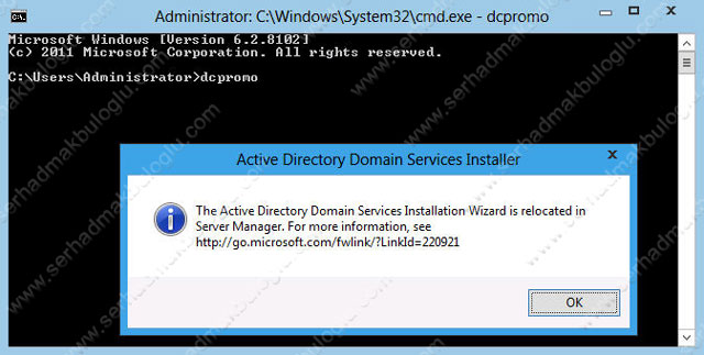 Windows Server 2012 Developer Preview Active Directory Kurulumu