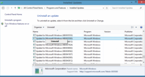 Remove Windows 10 Update (KB3035583)
